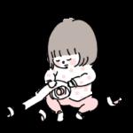 いたずらをする子供 イラスト