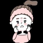 肌荒れに悩む女の子イラスト