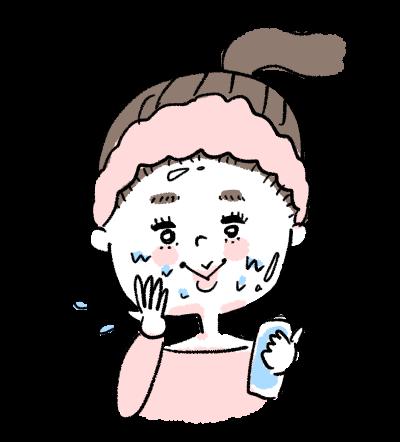 スキンケア 化粧水 女の子 ターバン
