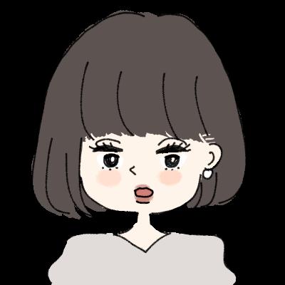 ぱっつんボブのきれいめな女の子イラストアイコン