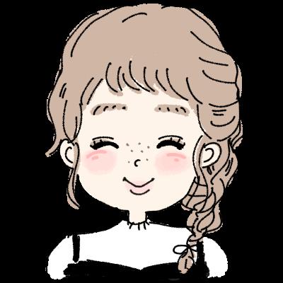 ゆるふわ三つ編みヘアーの女の子アイコン