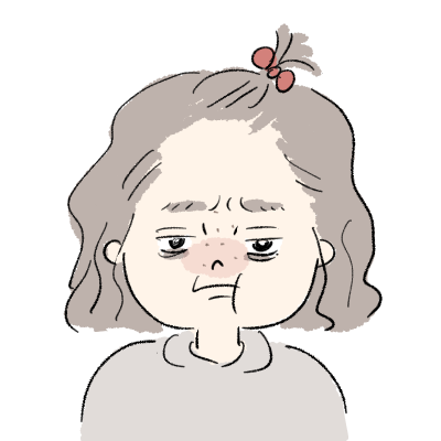 すっぴんちょんまげの女の子 怒った顔イラスト
