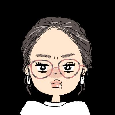 おしゃれ オールバック まとめ髪 小麦肌 メガネ女子 イラスト アイコン プンプン 怒る 怒った顔