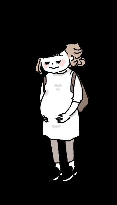 かわいい妊婦さん 幸せ 妊娠中 マタニティ