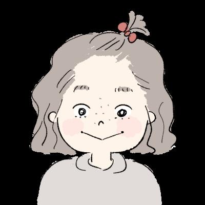 すっぴんちょんまげの女の子イラストアイコン