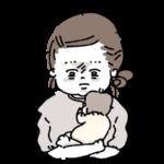 育児にお疲れ気味のママ イラスト