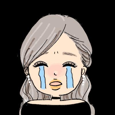 ギャル 色黒 ハーフアップ egg おしゃれ 女の子 イラスト アイコン 泣く