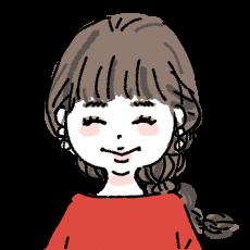 赤いワンピースの女の子 イラストアイコン