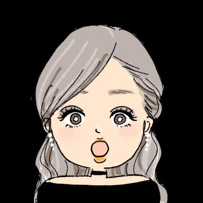 ギャル 色黒 ハーフアップ egg おしゃれ 女の子 イラスト アイコン 驚く びっくり