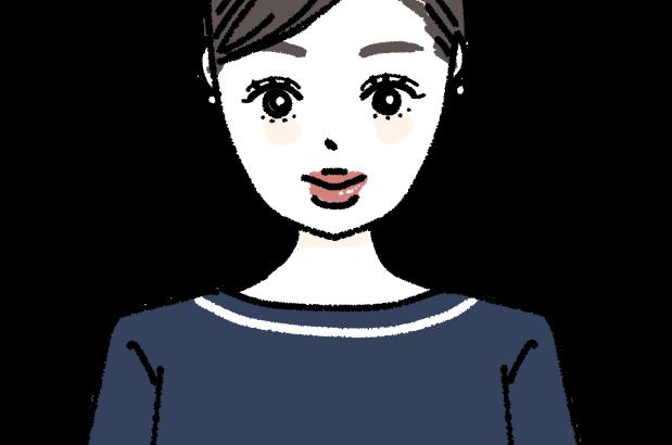 エステや美容系のお仕事で働く女性 イラスト