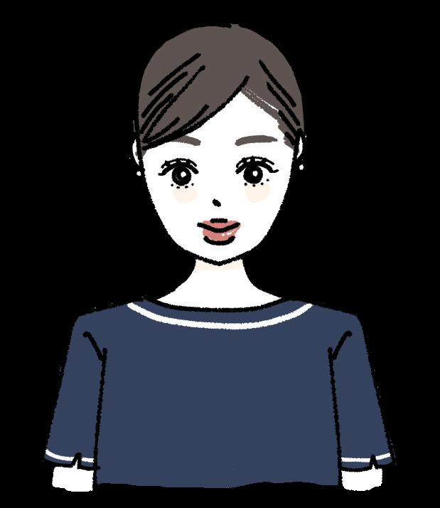 美容部員 エステ メイク サロン 働く女性 お仕事 美容系 美 デパート 手描きイラスト お姉さん 無料素材