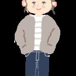 ファッション 冬 ぬくぬく あったか コーデ 女の子 おしゃれ イラスト 手描き 無料素材